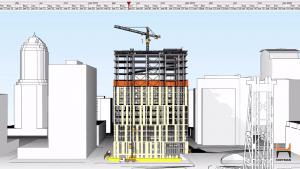 One-minute construction animation video, which includes a timeline of targeted dates leading up to the project's completion in 2020.