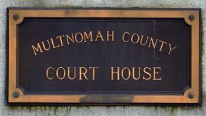 Multnomah County Court House plaque