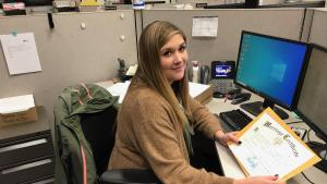 DART employee Anna Flynn-Ryan processes marriage licenses by mail during COVID-19.
