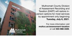 The Division of Assessment Recording and Taxation in the Multnomah Building