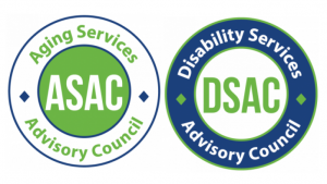 Logos of Disability and Aging Services Advisory Councils