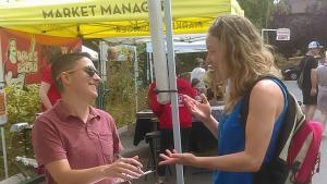Executive Director Dani Bernstein at the King Farmers Market
