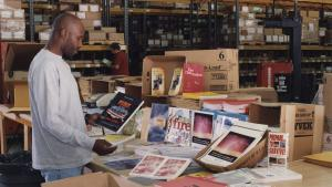 Man browses through preparedness pamphlets