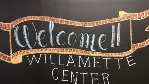 Willamette Center Welcome Sign