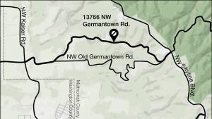 Map of Germantown Road slide repair project area