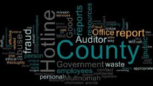 Word cloud about the Good Government Hotline