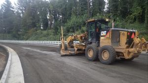 Grading 238th Drive before paving, 10-4-2021.