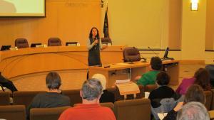 Chair Kafoury addresses CBAC members