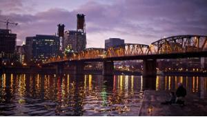 Portland at Night; Courtesy of Travel Portland