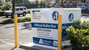 Multnomah County Elections Official Drop Box