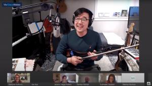 Screenshot of Joe Kye performing his original song
