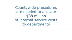 Procedures needed to allocate internal service costs