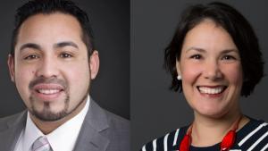 Rep. Diego Hernandez and Commissioner Jessica Vega Pederson