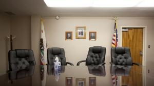 Empty juvenile courtroom