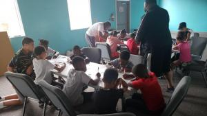 Kids learning CPTED principles