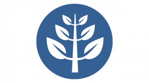 Icon of a stylized image of a leaf.