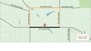 Map of Lusted Road construction area