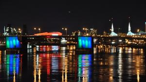 The Morrison Bridge will be lit blue and green on Earth Day weekend.