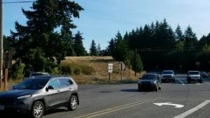 NW Cornelius Pass Road at NW Skyline after reopening to traffic on 9-29-2020.