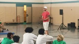 Noah Schultz speaks to incarcerated youth