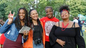 Community members at the Gresham Juneteenth celebration