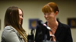 Kayla Ballew at START court graduation