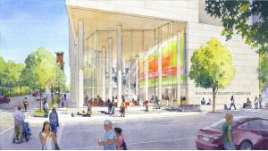 Rendering of the new central courthouse