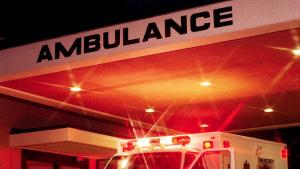 ambulance at the emergency room