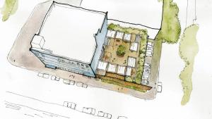Preliminary sketch of proposed behavioral health resource center.