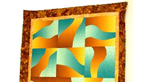abstract colors in quilt