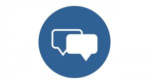 Icon of a dialog balloon.