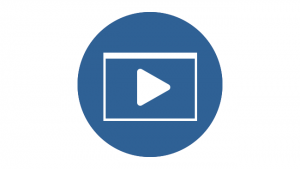 An icon in the form of a Play button, indicating videos.