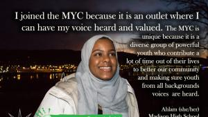 Ahlam shares why she joined the MYC