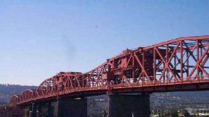 Side view of Broadway Bridge Portland Oregon