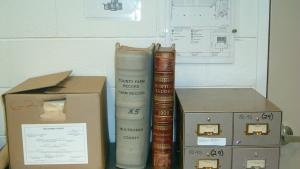 Items from the Records Center and Archives