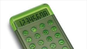 Green colored calculator