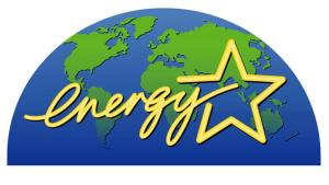 The words energy star written in front of a globe