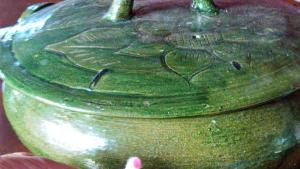 green pottery testing positive for lead paint