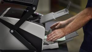 Image of new ballot scanner