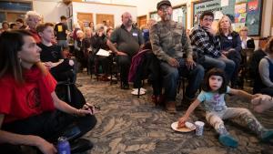 Linnton residents packed the forum on earthquake risk.