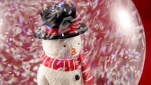 snowman inside a snowglobe