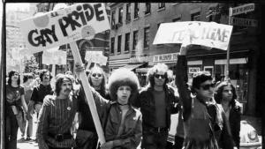Protest following the Stonewall Riot. Image found on the National Education Association website.