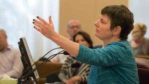 State Senator Elizabeth Steiner Hayward asks county board to raise legal age for tobacco purchase.