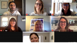 Screenshot of virtual meeting grid