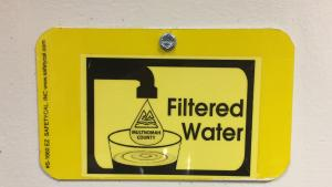 Multnomah County Filtered Water Sign