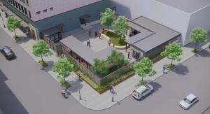 Sketch of courtyard design for downtown Behavioral Health Resource Center
