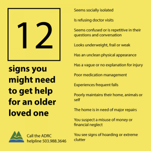 12 signs you might want to reach out about an older loved one