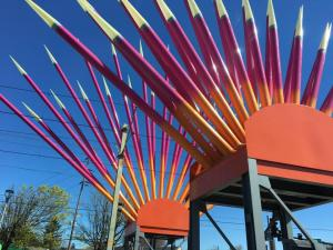 Art at Rockwood Station transit stop