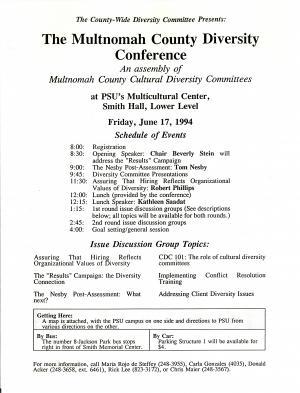 1994 Diversity Conference Program