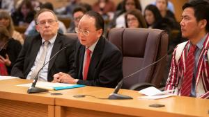 Lee Po Cha, executive director of IRCO, spoke of the contributions refugees make when they settle in Oregon.